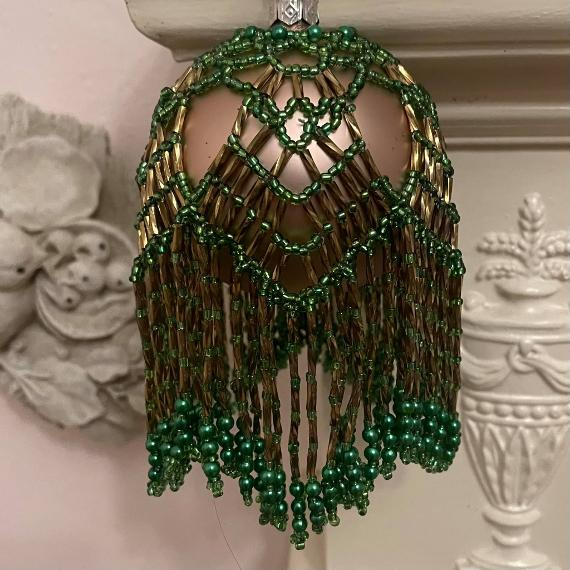 Green and bronze chandelier Christmasbauble.